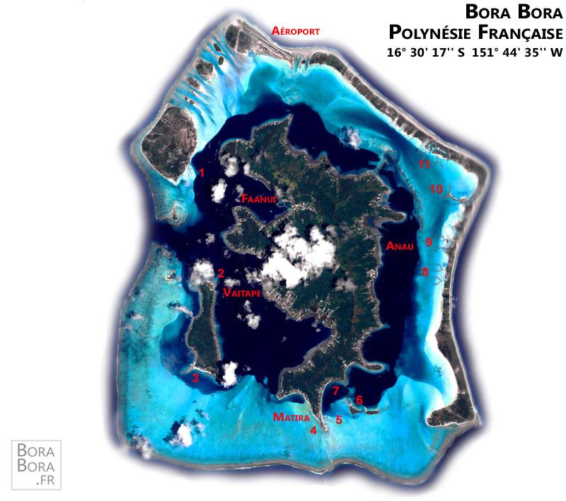 Bora Bora .fr - Carte de Bora Bora